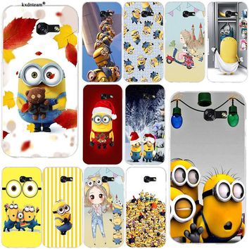 Happy Yellow Minions Soft Phone Cases TPU Silicon Cover for Samsung Galaxy Note 2 3 4 5 8 S2 S3 S4 S5 Mini S6 S7 S8 S9 Edge Plus