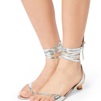 Scott Metallic Wrap Sandals