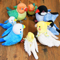 Cute Soft and Downy Bird Small Size Stuffed Plush Doll (Lovebird)