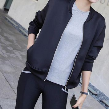 DCCK0OQ Thicken Korean Winter Long Sleeve Outdoors Sports Casual Jogging Gym Yoga Jacket [9585024586]