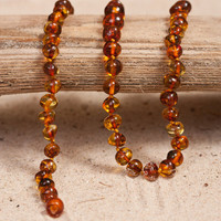 Cognac Baltic Amber Teething Necklace
