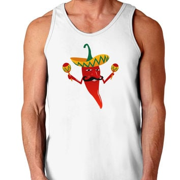 Red Hot Mexican Chili Pepper Loose Tank Top