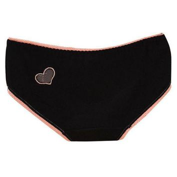 2016 Sexy Women Panties Cotton Briefs Solid Hollow Out Heart Underwear