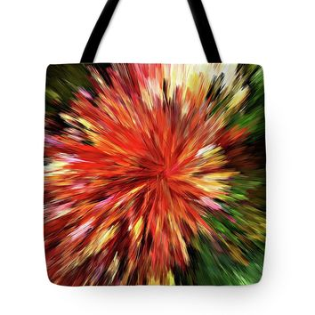 Sunburst Abstract Wall Art Tote Bag