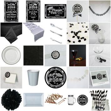 Silver Chalkboard Graduation Ultimate Party-in-a-box