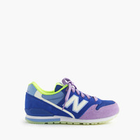 Girls New Balance For crewcuts 996 Lace-Up Sneakers With Glow-In-The-Dark Soles