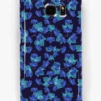 'Autumn Leaves Motif Pattern' Samsung Galaxy Case/Skin by DFLC Prints