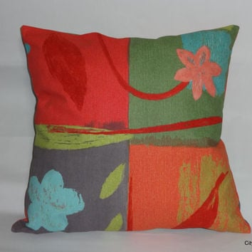 Kravet Designer Pillow Cover Accent Pillow Cover Toss Pillow Throw Pillow Decorative Pillow Cover Patio Pillow Cover Bright Floral Pillow