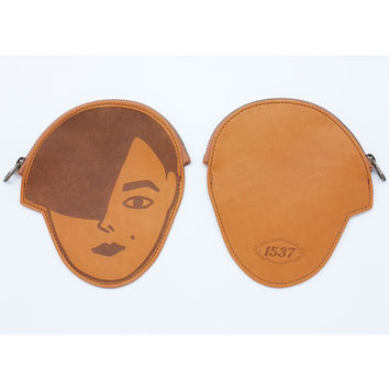 Oohlala Andre face pocket flat zipper pouch