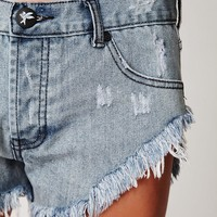 Free People Denim Cutoff Short