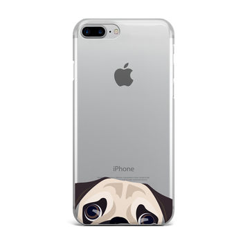 Peek a Boo Pug iPhone Case