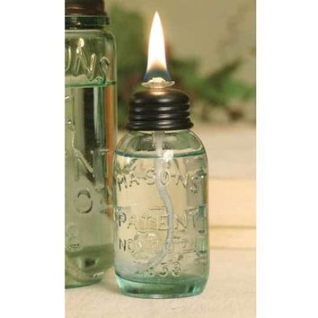 Miniature Mason Jar Oil Lamp | Set of 6