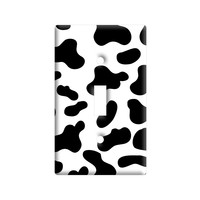 Cow Print Black White Light Switch Plate Cover