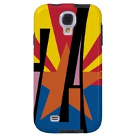 Tan Star Design with Red & Yellow Stripes Galaxy S4 Case