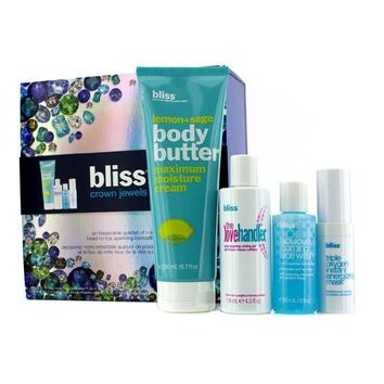Crown Jewels Set: Body Butter 200ml + Love Handler 118ml + Triple Oxygen Instant Energizing Mask 15ml + Face Wash 60ml - 4pcs