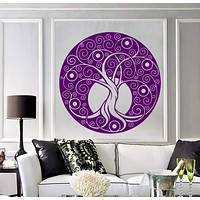 Vinyl Wall Decal Celtic Tree Of Life Nature Circle Room Art Decor Stickers Unique Gift (1378ig)