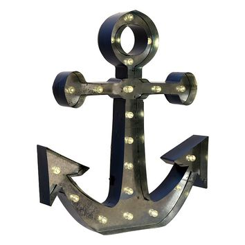 Anchor LED Marquee Sign Wall Decor
