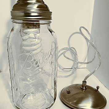 Hanging Mason jar pendant light