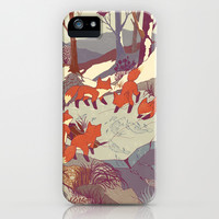Fisher Fox iPhone & iPod Case by Teagan White