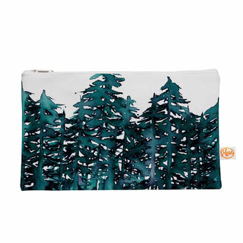 "Ebi Emporium ""Forest Through The Trees 5"" Teal White Everything Bag"