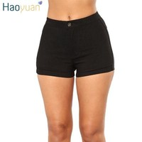 Hot Shorts HAOYUAN Women Denim  2018 Summer Elastic High Waisted Sexy  Woman Casual Female Black Red Spandex Jeans Short PantsAT_43_3