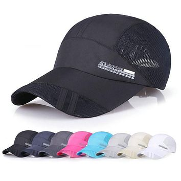 Summer Casual Breathe Freely Mesh Letter Baseball Cap Men Outdoor Adjustable Baseball Cap for Sport Hats