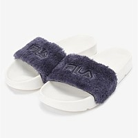 FILA Disruptor2 Women Fashion Fur Sandals Slipper Flats Shoes