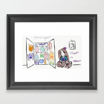 Wardrobe princess Framed Art Print by Natalia Lampropoulou