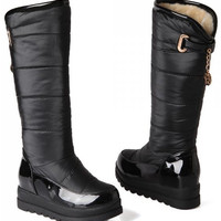 platform over knee boots ladies riding  long snow boot warm  botas heels footwear shoes P19410 size 34-39
