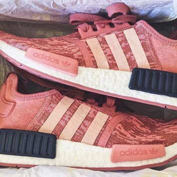 Adidas NMD R1 boost Pink noise running shoes