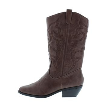 Stitched Cowgirl Boot (Tan)
