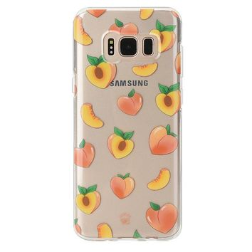 Just Peachy Samsung Clear Case