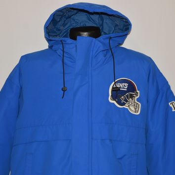 90s New York Giants Football Ski Jacket Large