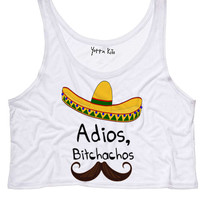 Adios Bitchochos Crop Tank Top