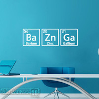BAZINGA - Vinyl Wall Art - FREE Shipping - Fun Periodic Table Decal Inspired by The Big Bang Theory