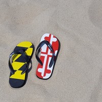 Maryland Flag (w/ Maryland Bottom) / Flip Flops