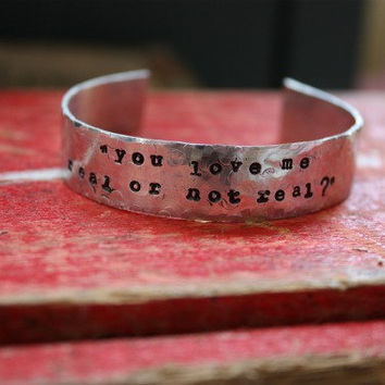 Personalized Cuff Bracelet Hunger Games Secret by tagsoup