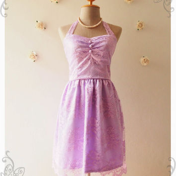 Lilac Lace Dress Vintage Inspired Lace Dress Party Purple Wedding Bridal Shower Prom Engagement Lilac Lace Dress Purple Dress -Size XS-XL