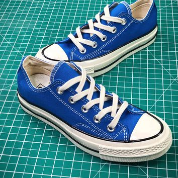 Converse Chuck Taylor All Star 1970s Blue Low Canvas Shoes - Best Online Sale