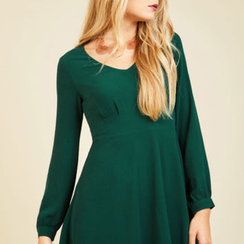 Sweet as Saturday Morning Mini Dress in Emerald | Mod Retro Vintage Dresses | ModCloth.com