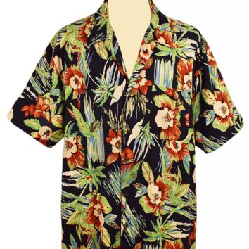 Men's Hawaiian Shirt, Short Sleeve Shirt, Button Down, 100% Silk, Resort Shirt