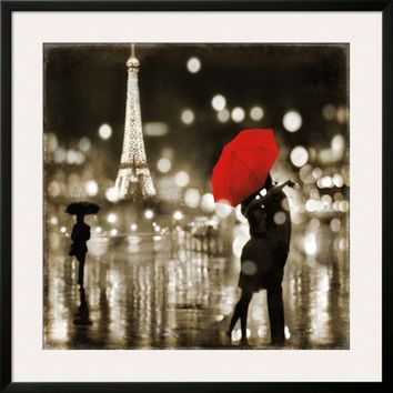 A Paris Kiss Art Print by Kate Carrigan at Art.com