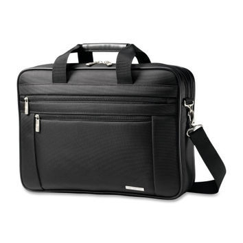 "Samsonite Corporation Business Laptop Briefcase, 17-3/4""x4-1/2""x12-1/2"", Black"