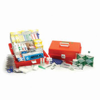 Portable Trauma Kit with Orange Polymer Case