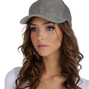 Gray Suede And Chill Baseball Cap