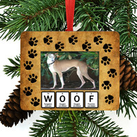 Woof Periodic Table of Element Christmas Tree Ornament / Picture Frame
