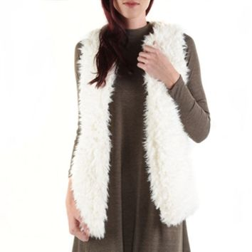 B. Sweet Juniors High-Pile Faux Fur Vest at Von Maur