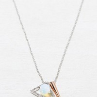AEO Women's Spike & Opal Necklace (Mixed Metal)