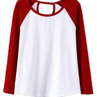 Red and White Cut Out T-shirt
