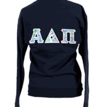 Alpha Delta Pi Lilly Quarter Zip Jacket, ADPI, Get Nauti, Half Zip